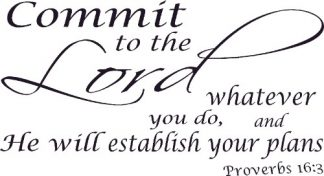 Proverbs 16:3 Bible Verse Wall Decal