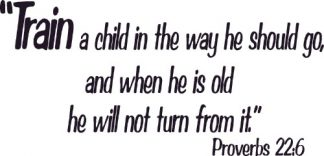 Proverbs 22:6 Scripture Wall Art