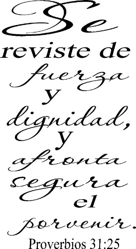 Proverbios Spanish wall decal