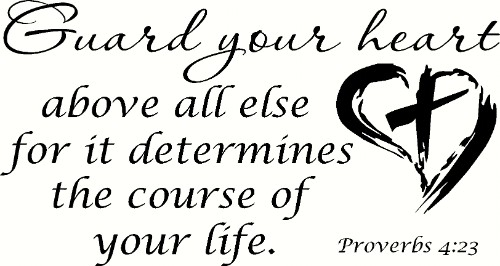 Proverbs 4:23 V2 Bible Verse Vinyl Wall Decal Image
