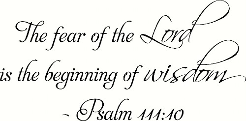 Psalm 111:10 Vinyl Wall Decal by Scripture Wall Art Image