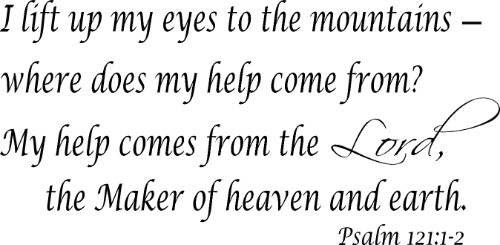 Psalm 121:1-2 Bible Verse Wall Quote Image