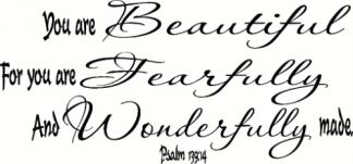 Psalm 139:14 Bible Verse Wall Decal