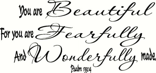 Psalm 139:14 V2 Scripture Wall Decal Image