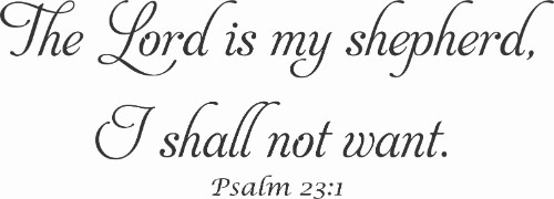 Psalm 23:1 Vinyl Wall Decal by Scripture Wall Art Image