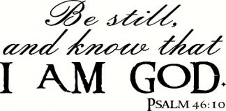 Psalm 46:10 Christian Wall Decals Quotes