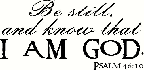 Psalm 46:10 V2 Scripture Wall Decal Image