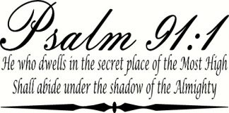 Psalm 91:1 Scripture Wall Decal