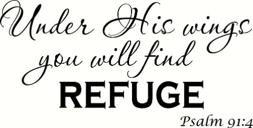 Psalm 91:4 Bible Verse Wall Decal by Scripture Wall Art Image