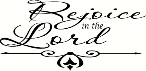 Rejoice In The Lord Vinyl Wall Decal by Scripture Wall Art Image