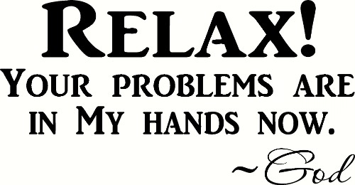 Relax Vinyl Wall Decal by Scripture Wall Art Image