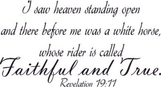 Revelation 19:11 Christian Vinyl Art