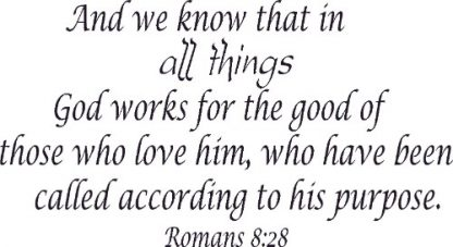 Romans 8:28 Spiritual Wall Quote