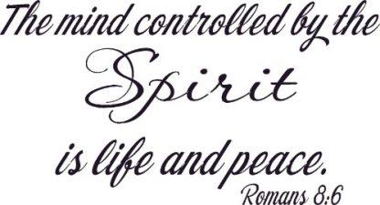 Romans 8:6 Scripture Wall Art