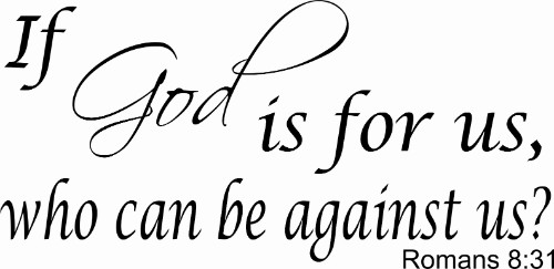 Romans 8:31 Scripture Wall Decal Image