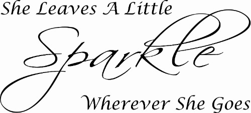 She Leaves A Little Sparkle Wherever She Goes Vinyl Wall Decal by Scripture Wall Art Image