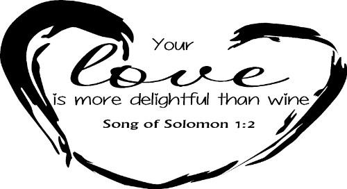 Song of Solomon 1:2 Vinyl Wall Decal by Scripture Wall Art Image