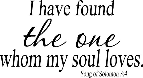 Song of Solomon 3:4 Vinyl Wall Decor Image
