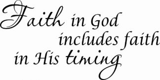 Faith in God ~ Cheap Scripture Wall Decals