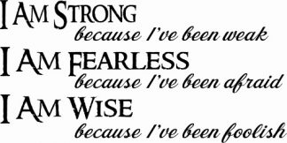Strong Fearless Wise Motivational Wall Quotes