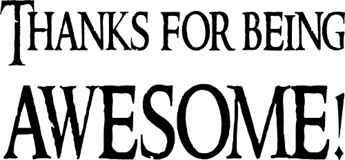 Thanks For Being Awesome! Motivational Vinyl Wall Decal Image