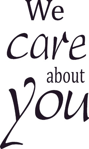 We Care ABout You ~ Vinyl Wall Decal