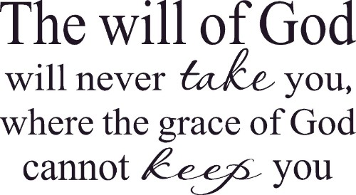 The Will Of God Vinyl Wall Decal by Scripture Wall Art Image