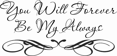 You Will Forever Vinyl Wall Decal by Scripture Wall Art Image