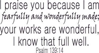 Psalm 139:14 Wall Art