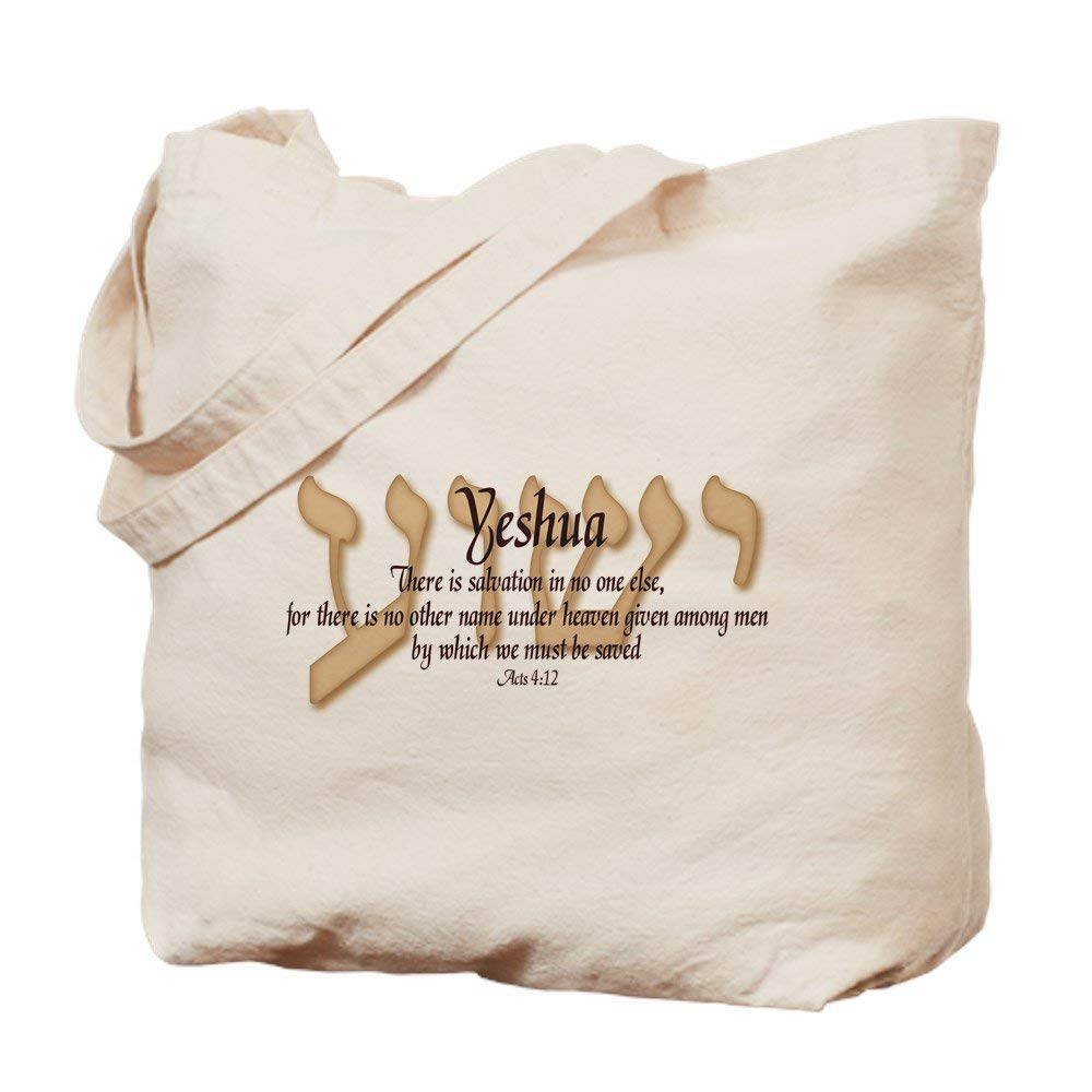 Acts 4:12 Natural Canvas Tote Bag, Cloth Shopping Bag Image