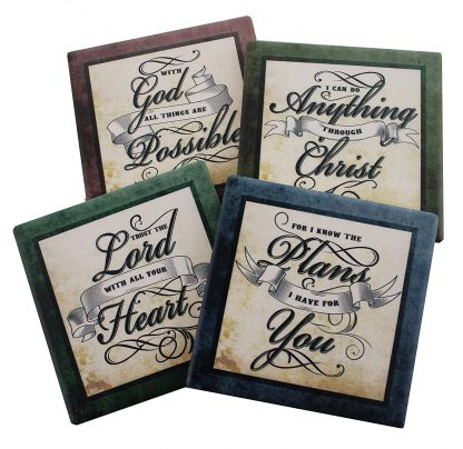 Inspirational Drink Coasters Set of Four