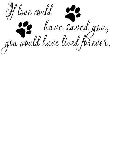 Paw Print Memorial Wall Decal
