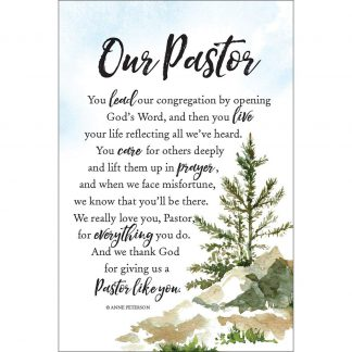 Our Pastor Gift Plaque