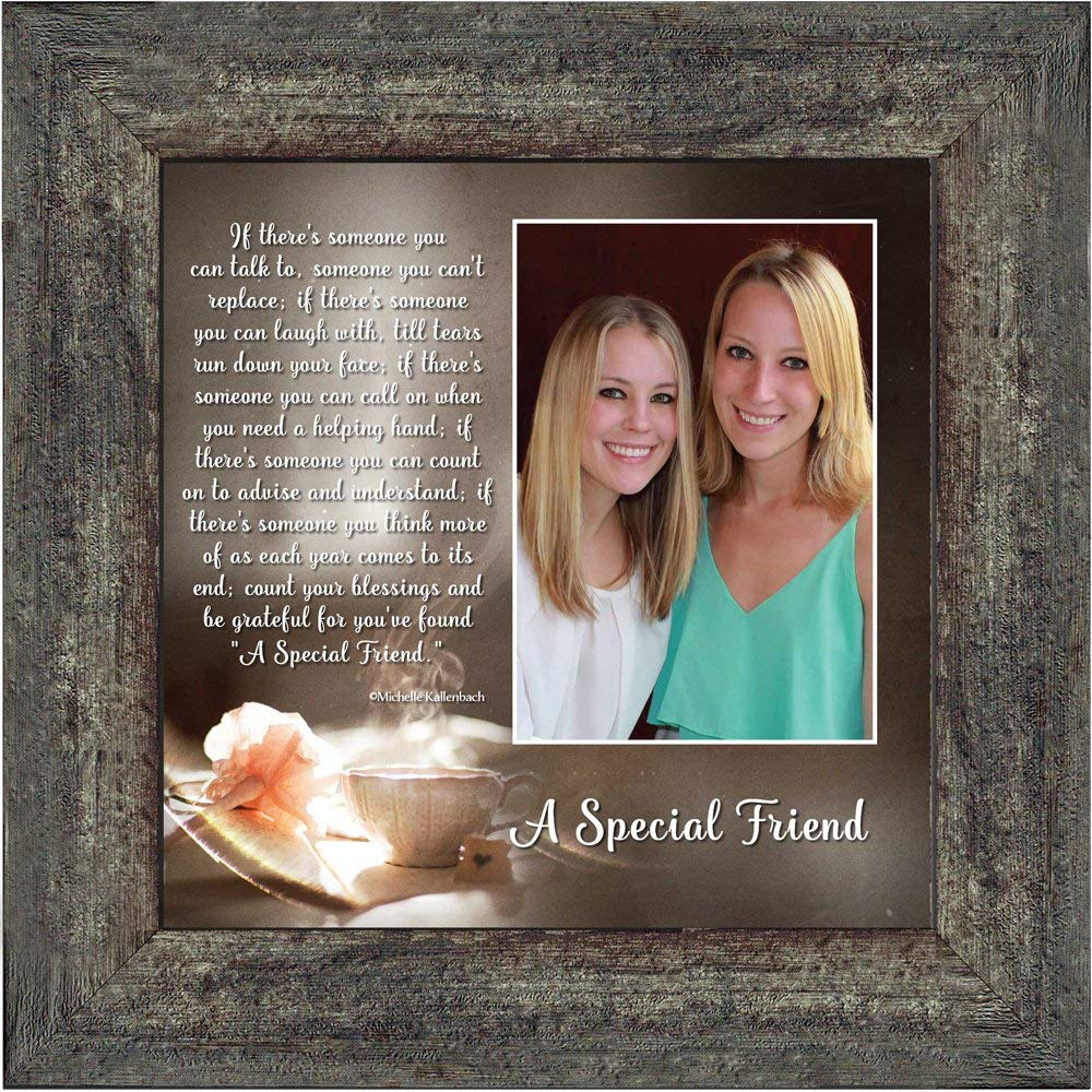 A Special Friend, Birthday Gift for Best Friend, Personized Picture Frame for Your Forever Best Friend, 10x10 6375BW Image