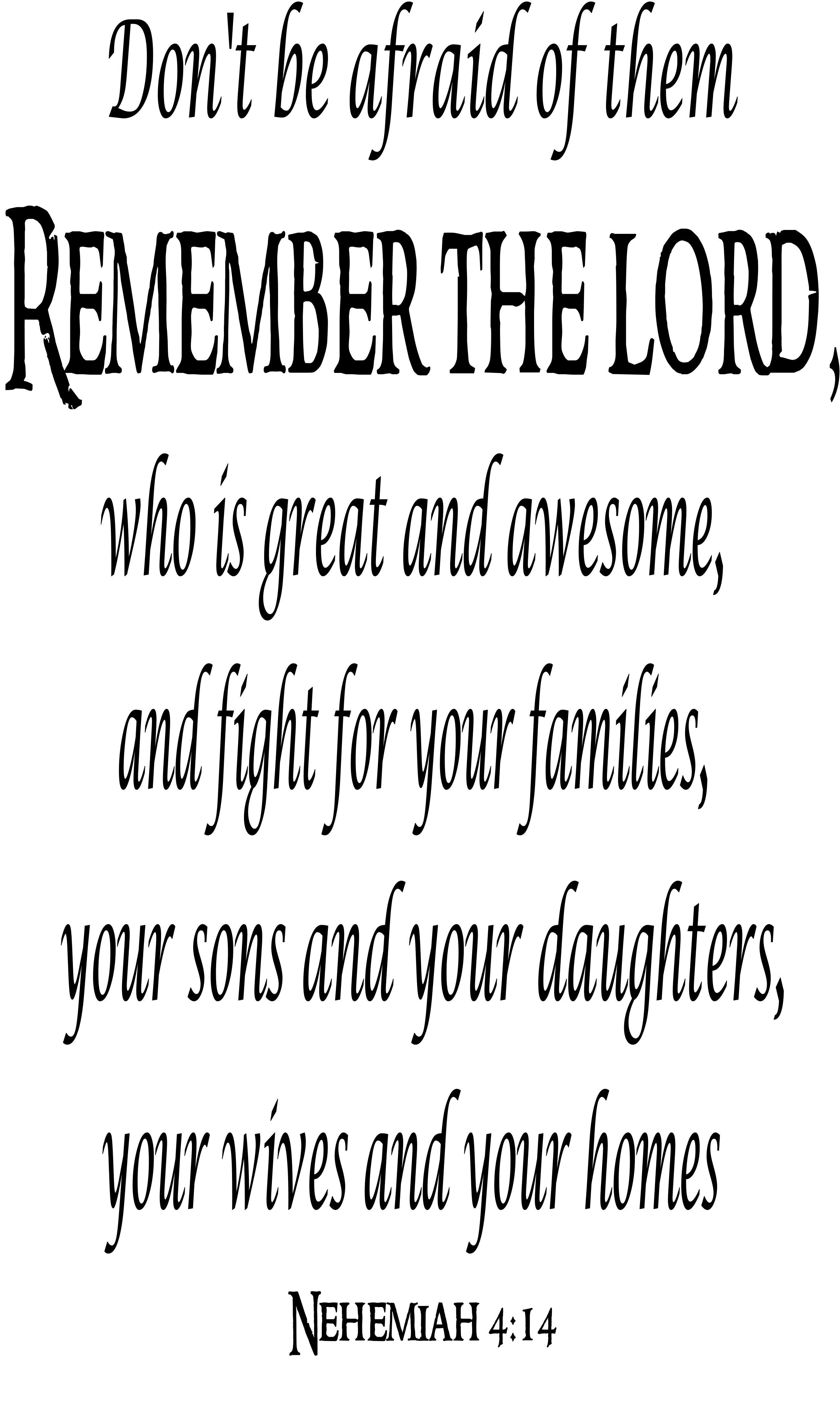 Nehemiah 4:14 Giant Size 3