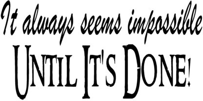 always impossible motivational vinyl wall decal